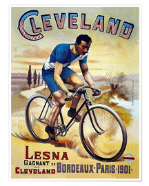 Poster Premium  Cleveland Bicycles - Advertising Collection
