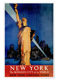 Poster Premium  New York - Travel Collection