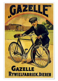 Poster Premium Gazelle Rywielen Bicycle