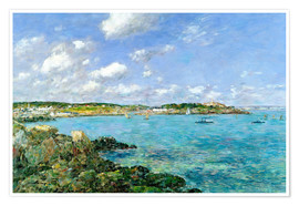Poster  The Bay of Douarnenez - Eugène Boudin