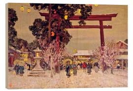 Legno  View of a Shinto Shrine, c.1889 - Sir Alfred East