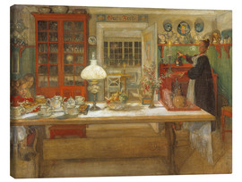 Tela  Getting Ready for a Game - Carl Larsson