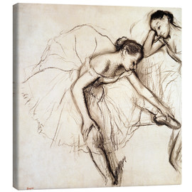 Tela  Two Dancers Resting - Edgar Degas