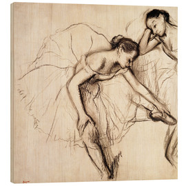 Legno  Two Dancers Resting - Edgar Degas