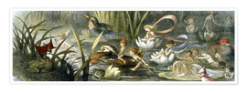 Poster Premium  Water-Lilies and Water Fairies - Richard Doyle