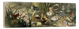 Stampa su legno  Water-Lilies and Water Fairies - Richard Doyle