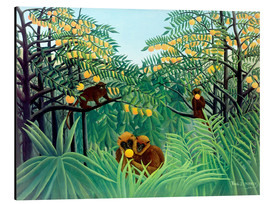 Alluminio Dibond  Monkey in the jungle - Henri Rousseau