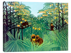 Tela  Monkey in the jungle - Henri Rousseau