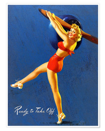Poster Premium Pin Up - Ready to Take Off