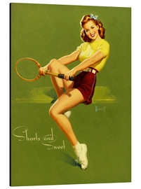 Stampa su alluminio  Pin Up - Shorts and Sweet - Al Buell