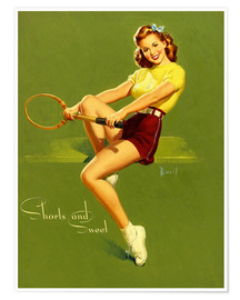 Poster Premium Pin Up - Shorts and Sweet
