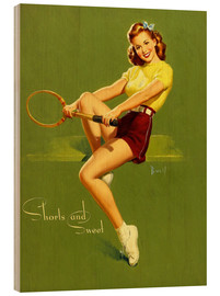 Stampa su legno  Pin Up - Shorts and Sweet - Al Buell