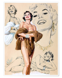 Poster Premium  Glamour Pin Up study - Al Buell