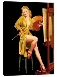 Stampa su tela  Pin up with a color palette - Al Buell