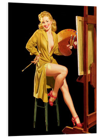 Stampa su PVC  Pin up with a color palette - Al Buell