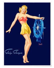 Poster Premium  Pin Up - Ship Shape - Al Buell