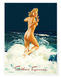 Poster Premium  Pin Up - Southern Exposure - Al Buell