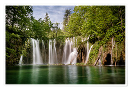 Poster Premium  Paradise Waterfall in Plitvice - Andreas Wonisch