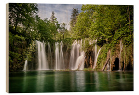 Stampa su legno  Paradise Waterfall in Plitvice - Andreas Wonisch
