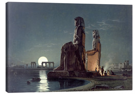 Stampa su tela  The Colossi of Memnon, Thebes - Carl Friedrich Heinrich Werner
