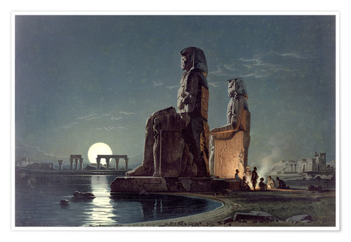 Poster Premium The Colossi of Memnon, Thebes