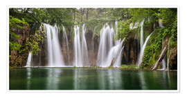 Poster Premium  Paradise like waterfall in plitvice - Andreas Wonisch