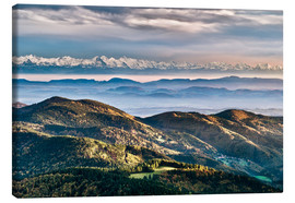 Stampa su tela  Black Forest Alps Panorama - Andreas Wonisch