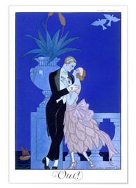 Poster Premium  Yes! 1921 - Georges Barbier
