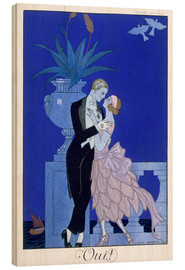 Stampa su legno  Yes! 1921 - Georges Barbier