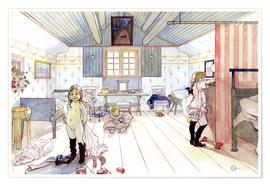 Poster Premium  Mamma's and the Small Girl's Room - Carl Larsson