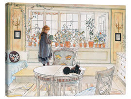 Tela  Flowers on the Windowsill - Carl Larsson