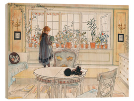 Legno  Flowers on the Windowsill - Carl Larsson