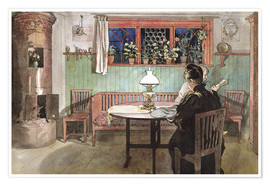 Poster Premium  When the Children have Gone to Bed - Carl Larsson