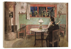 Stampa su legno  When the Children have Gone to Bed - Carl Larsson