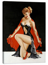 Stampa su tela  Pin up illustration - Peter Driben