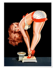 Poster Premium  Pin Up on Scale - Peter Driben