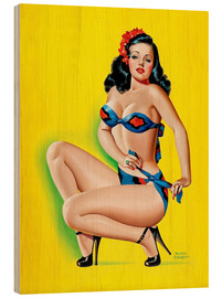 Stampa su legno  Pin Up in a Bikini - Peter Driben