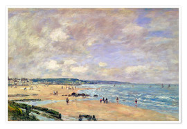 Poster Premium  Beach at Trouville - Eugène Boudin