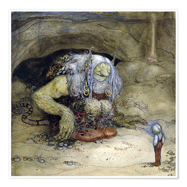 Poster Premium  The Troll and the Boy - John Bauer
