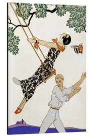 Stampa su alluminio  The Swing, 1920s - Georges Barbier