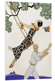Schiuma dura  The Swing, 1920s - Georges Barbier