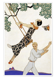 Poster Premium  The Swing, 1920s - Georges Barbier