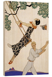 Stampa su legno  The Swing, 1920s - Georges Barbier