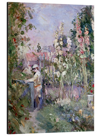 Stampa su alluminio  Young Boy in the Hollyhocks - Berthe Morisot