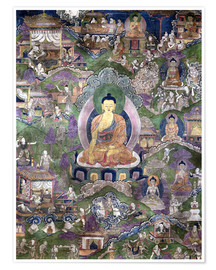 Poster Premium  Thangka of the Buddha - Tibetan School