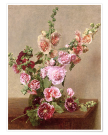 Poster Premium Hollyhocks