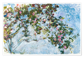 Poster Premium  Le rose - Claude Monet