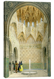 Stampa su tela  The Hall of the Abencerrages, the Alhambra, Granada, 1853 - Léon Auguste Asselineau