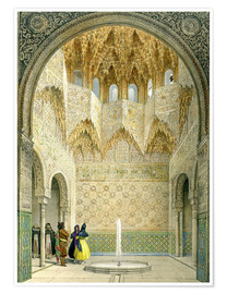 Poster Premium  The Hall of the Abencerrages, the Alhambra, Granada, 1853 - Léon Auguste Asselineau