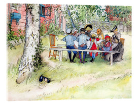 Vetro acrilico  Breakfast under the Big Birch - Carl Larsson